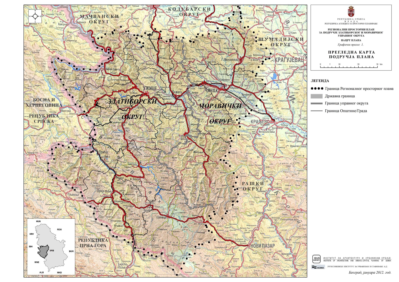 karta srbije arilje Regionalni prostorni plan Zlatiborskog i Moravičkog okruga karta srbije arilje
