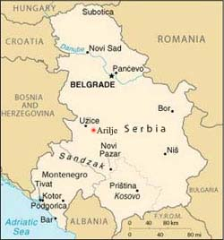 arilje mapa Srbija Arilje arilje mapa